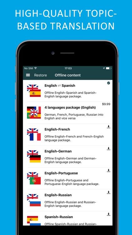PROMT Translator Spanish-English offline