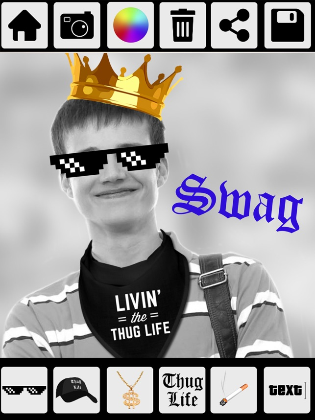Thug Life Photo Stickers Photo Maker On The App Store
