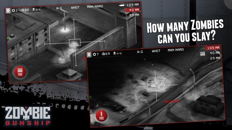 Zombie Gunship: Gun Down Zombies screenshot-4