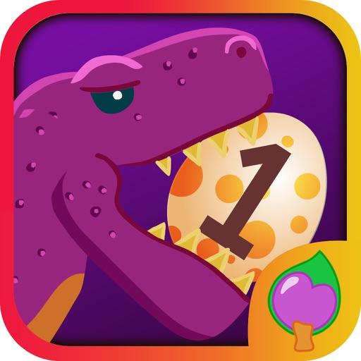 Fun dinosaur egg math game for children