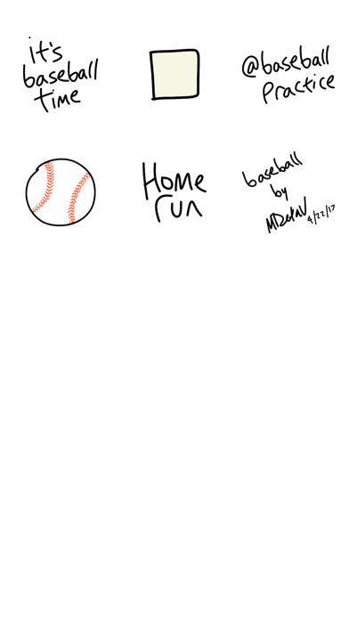 Baseball sticker, sport game stickers for iMessage screenshot four