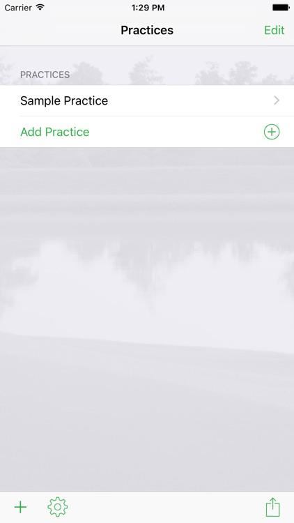 InfiniteGolf Practice Planner