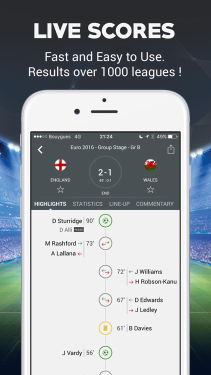 Live Football Scores - Soccer Live Score screenshot-1