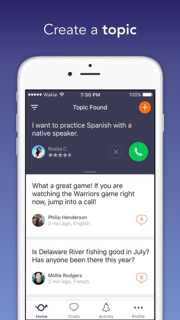 Wakie: Talk to People Screenshot
