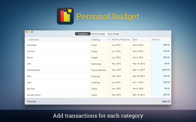 Personal Budget Pro