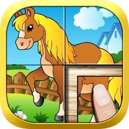 动物世界拼拼看 - 儿童益智拼图游戏