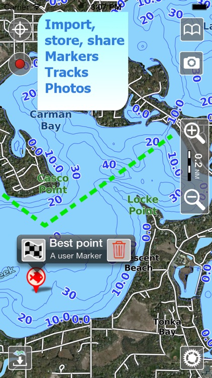 Aqua Map Wisconsin WI Lakes - Nautical Charts screenshot-3