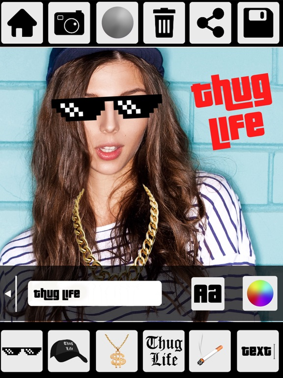 Thug Life Photo Stickers Photo Maker App Price Drops
