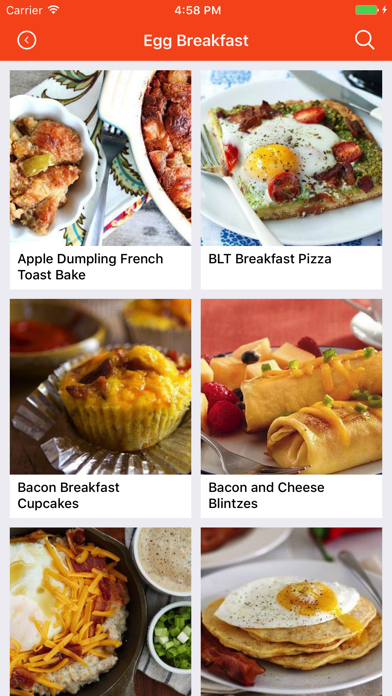 Egg Recipes: Food recipes, cookbook, meal plans screenshot one