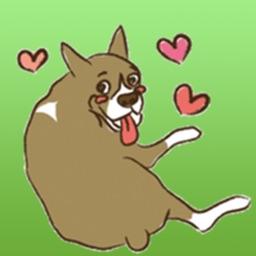 Lovely Boxer Dog Emoji Sticker