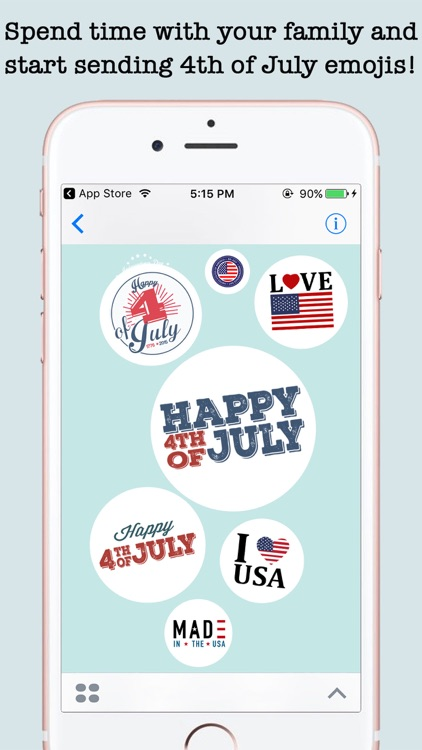 4th Of July Wishes Stickers For iMessage screenshot-3