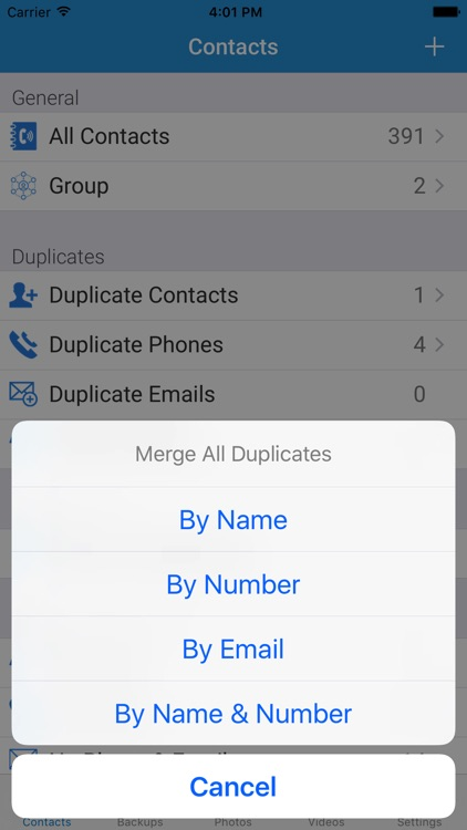 My Contacts Backup with Photo and Video