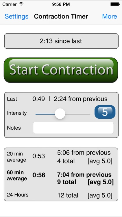Labor and Contraction Timer
