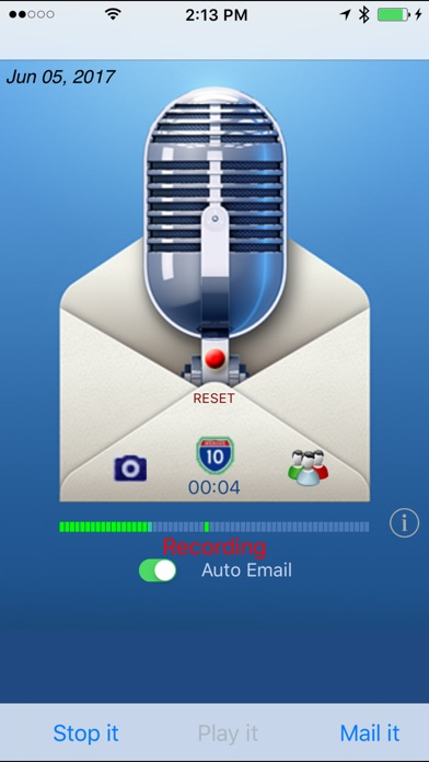 Say it & Mail it Recorder Screenshot 1