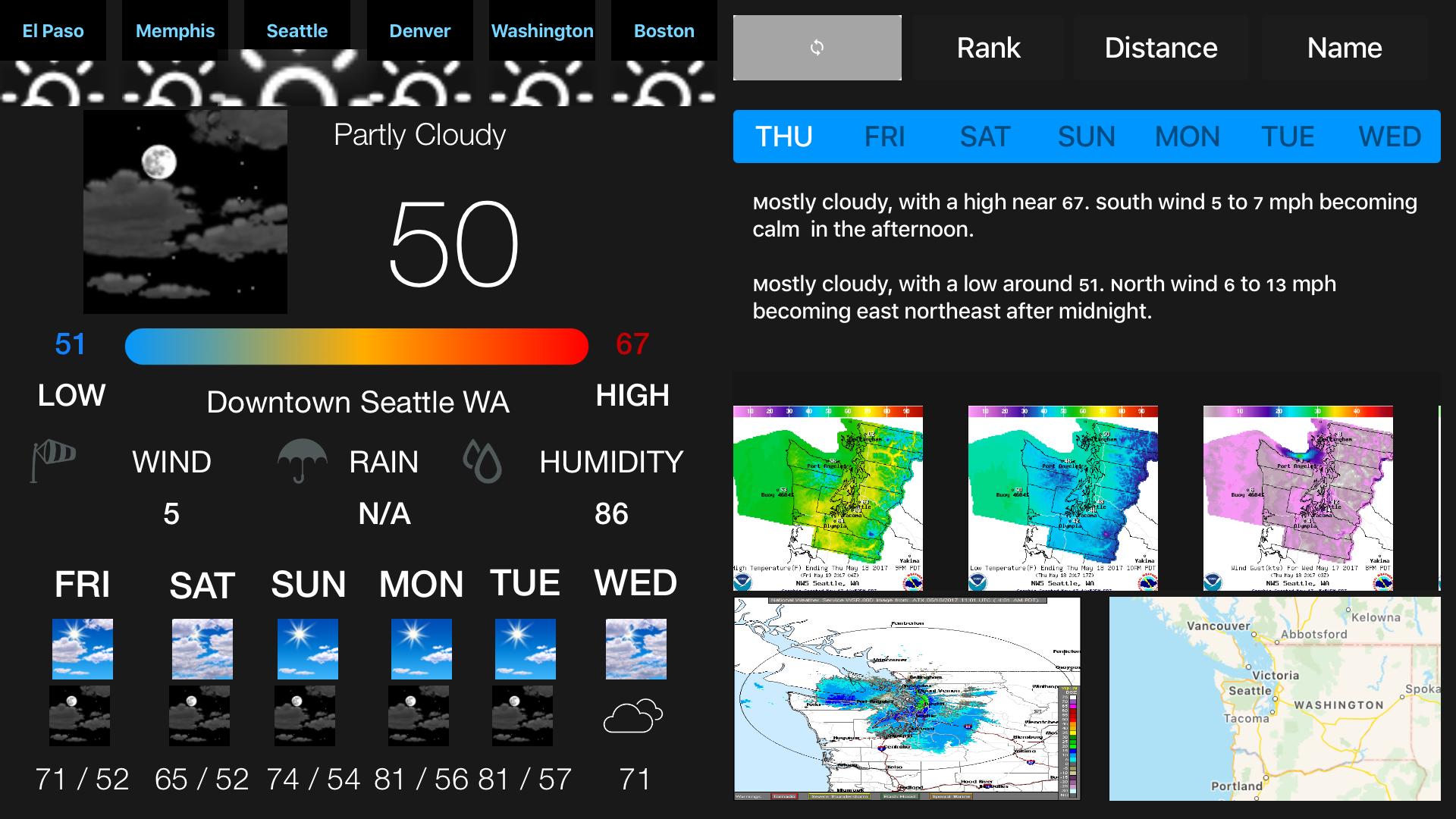 Instant NOAA Weather Forecast Pro screenshot 2