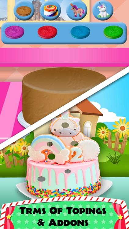 DIY Unicorn Rainbow Cake Cooking! Sweet Dessert screenshot-3