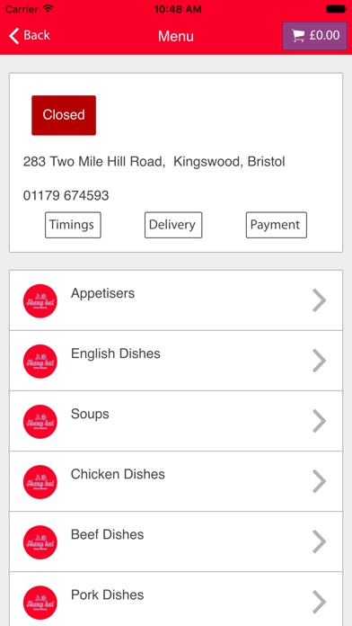 Oriental Kitchen Gosport Menu