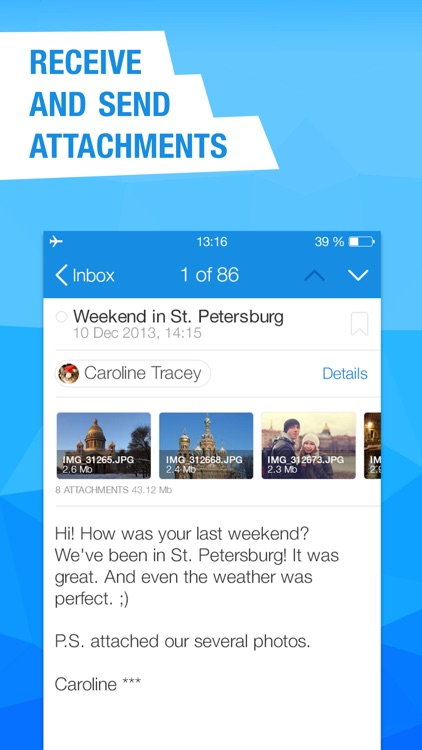 Mail.Ru for UA - email client for all mailboxes screenshot-3