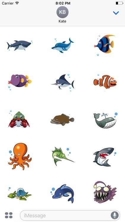 Funny Sea Stickers