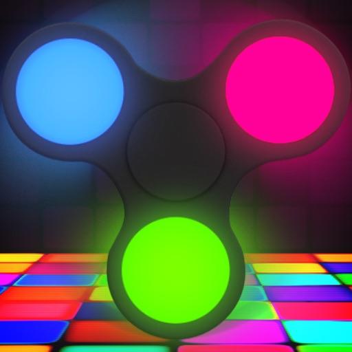 Fidget Spinner Wheel Simulator - Neon Glow Toy