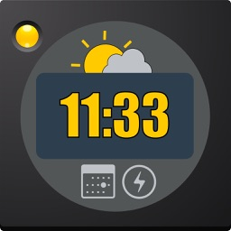 Table Clock PRO with many colors, date and weather