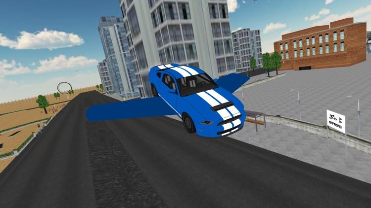 Flying Car Driving Simulator 3D screenshot-4
