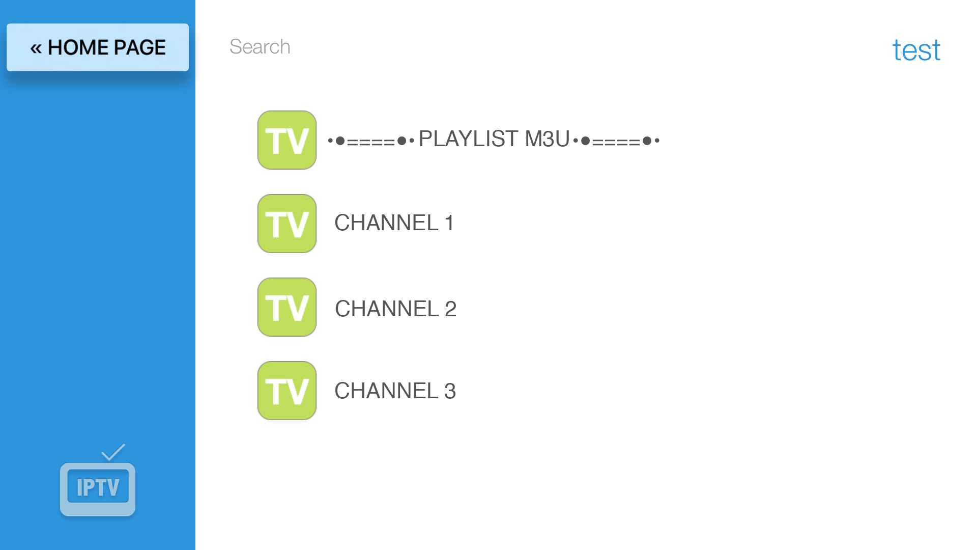 IPTV Easy - playlist m3u screenshot 2
