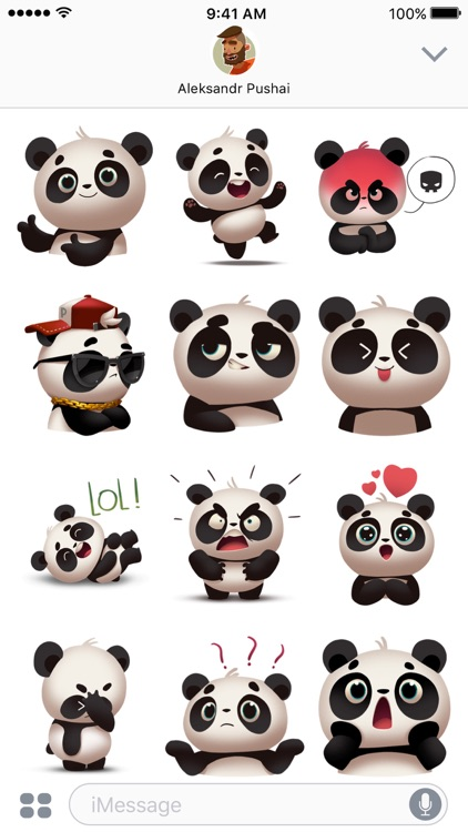 Panda! Stickers & Emoji screenshot-2