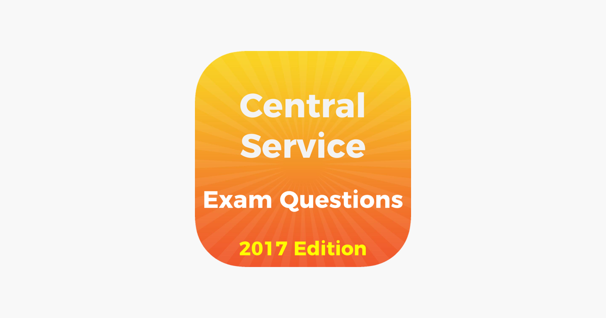 Central Service Exam Questions 2017 On The App Store