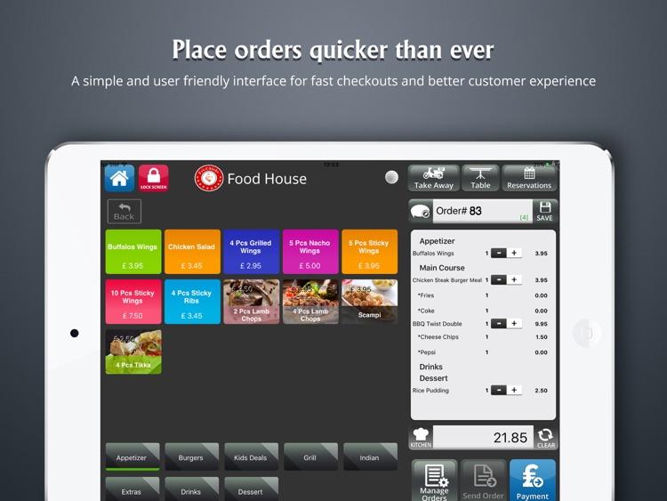 Just eMenu iPad Point of Sale (POS)