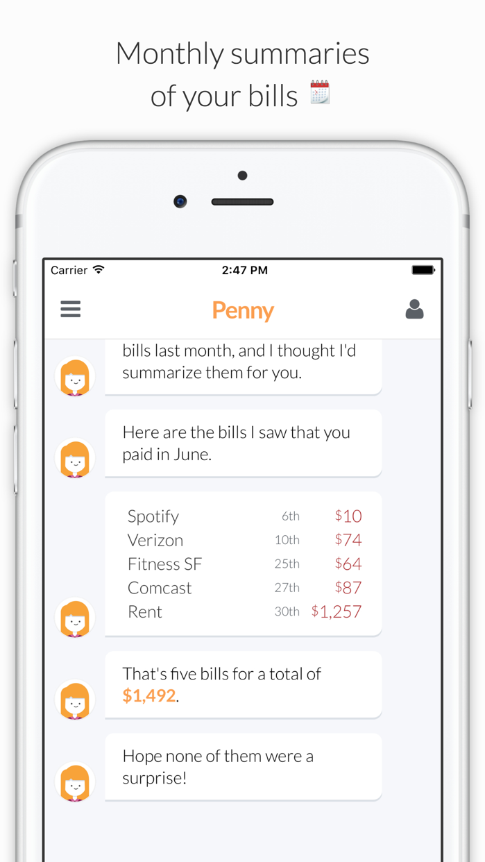 Penny - Track Spending & Bills Screenshot