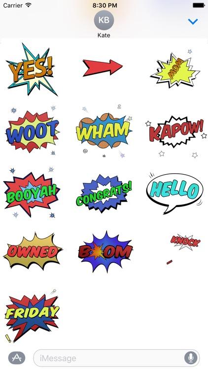 Comic Blast Animated Stickers screenshot-3