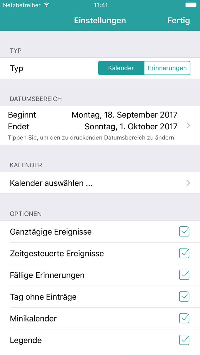 Cal Drucker – Drucken Sie Ihren Kalender Screenshot