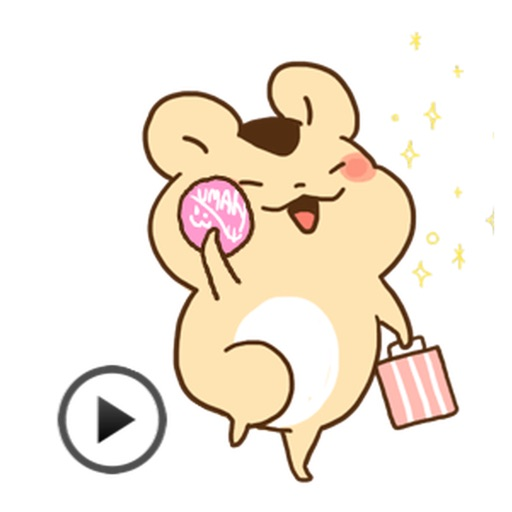 Animated Adorable Hamster Sticker Packs