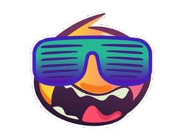Wackey Smiley Sticker