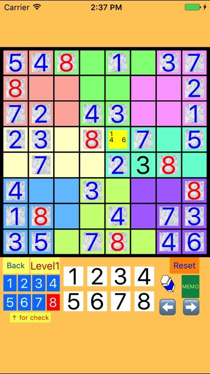 8x8!? SUDOKU Easy to Difficult screenshot-4