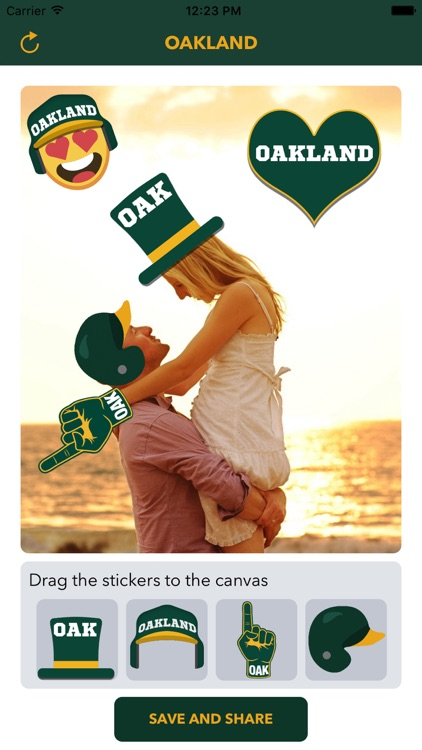 Oakland Baseball Stickers & Emojis
