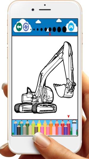 Ekskavatör Kazıcı Boyama Kitabı Oyunları App Storeda