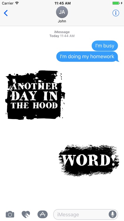 Hip Hop Words Text Sticker Pack