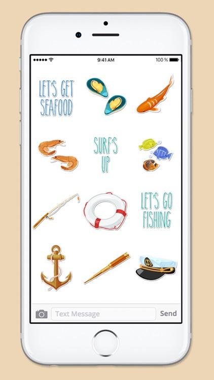 Beach Ocean and Nautical Sticker Pack screenshot-4