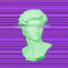 Vaporwave Glitch - Aesthetic Art for Video & Photo Reviews