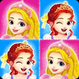 Princess matching pairs games for girls