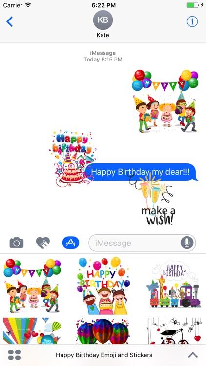 Happy Birthday Emoji And Stickers Screenshot 2