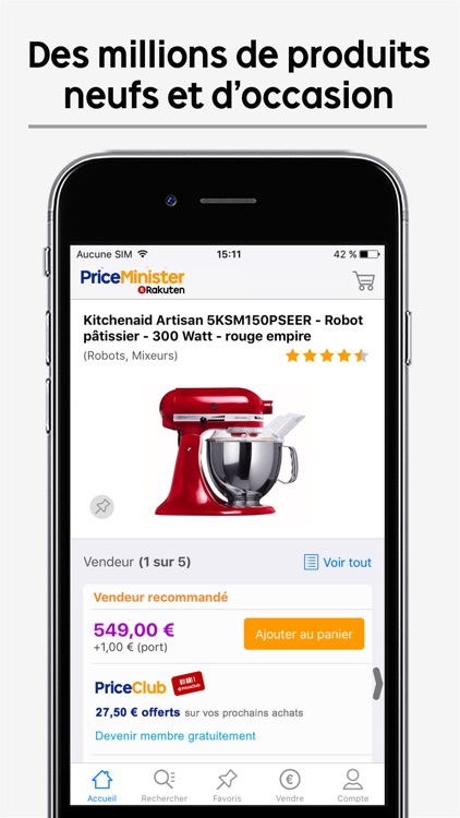 Priceminister-Rakuten shopping : achetez revendez screenshot-0