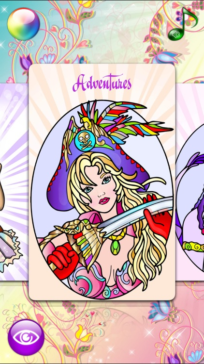 Fashion Coloring Books for Adults with Girls Games screenshot-4
