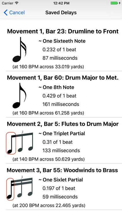 Sound Delay Calculator: Marching Band screenshot-4