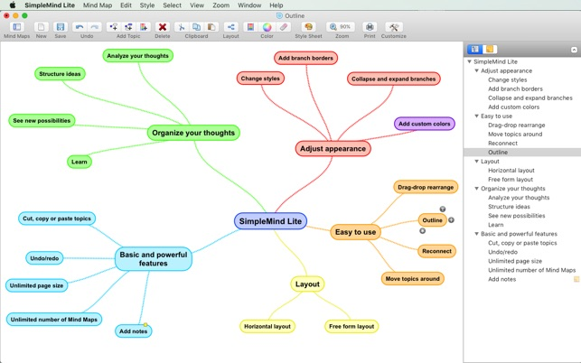 Simplemind lite mind mapping on the mac app store simplemind lite mind mapping on the mac app store ccuart Choice Image