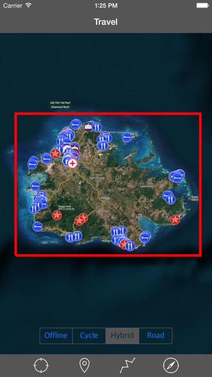 ANTIGUA – GPS Travel Map Offline Navigator