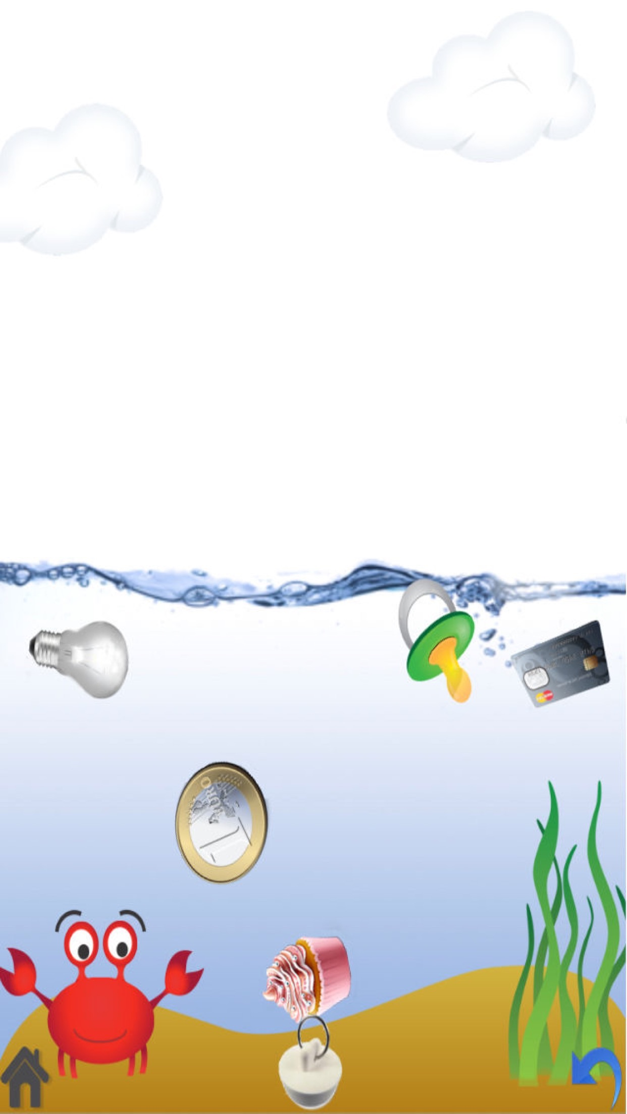 Sink or Float - Kids science experiment game Screenshot