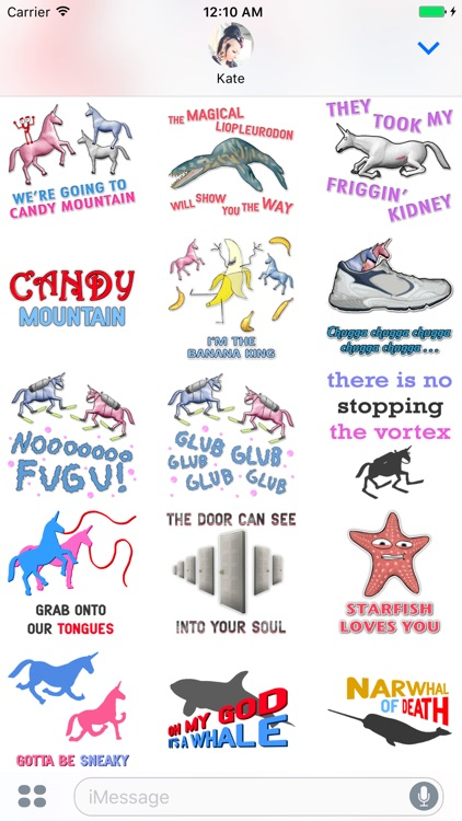 Charlie the Unicorn Stickers